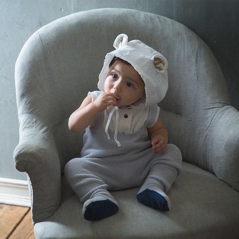 bonnet 3 bear white