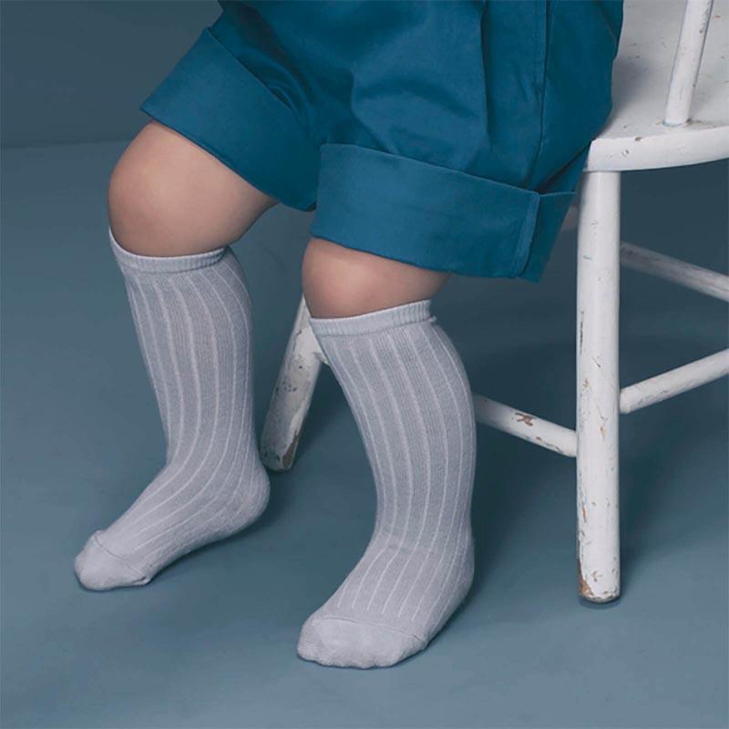 knee socks 3 dusty blue