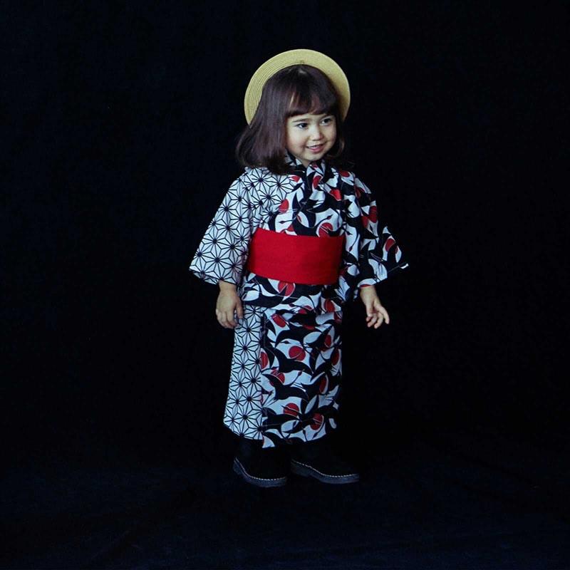 yukata 2 tsuru aka