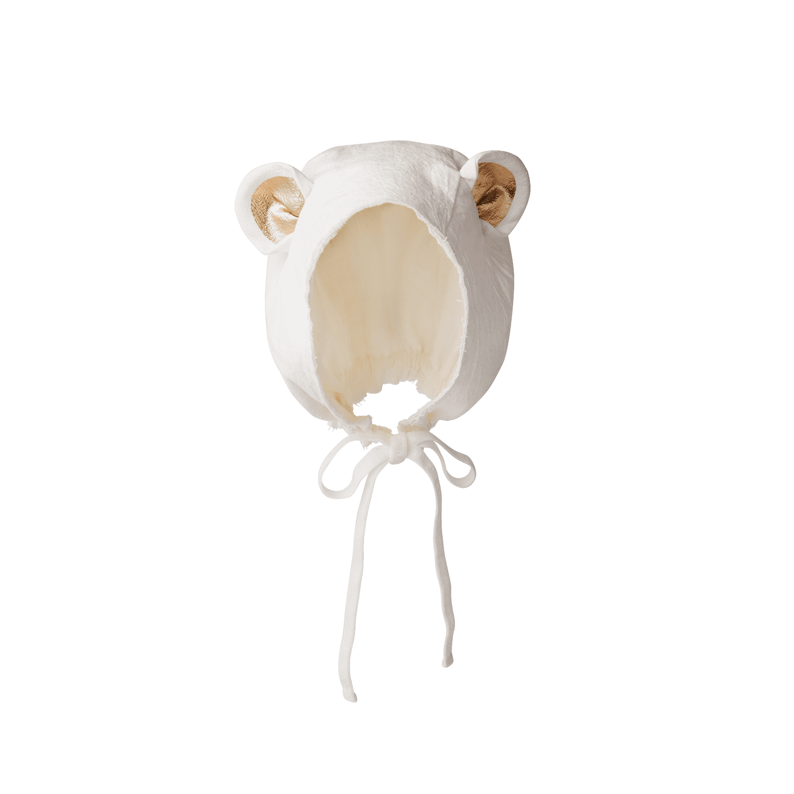 bonnet 3 bear white