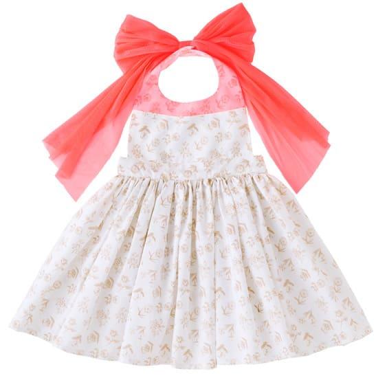 お食事エプロンbouquet 5 white flower for baby サムネイル