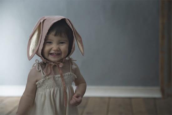 ボンネ帽bonnet 1 bunny pink
