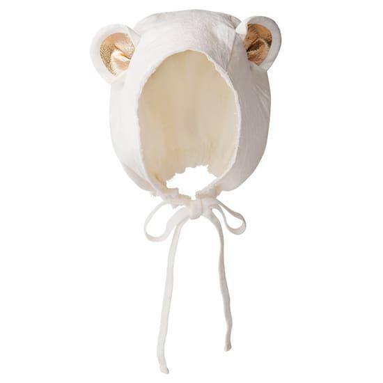 ボンネ帽bonnet 3 bear white サムネイル