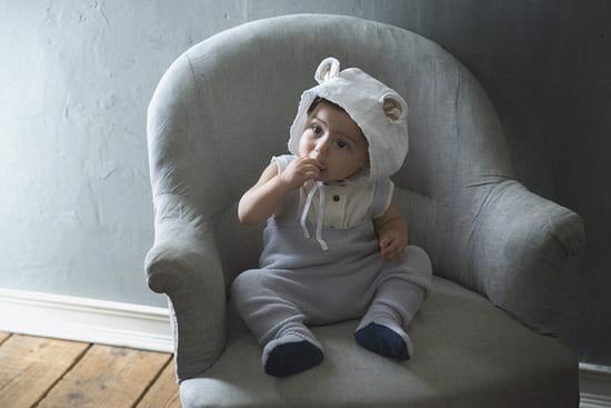 ボンネ帽bonnet 3 bear white