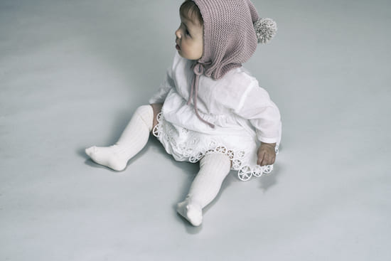 ニーソックスknee socks 1 stone white