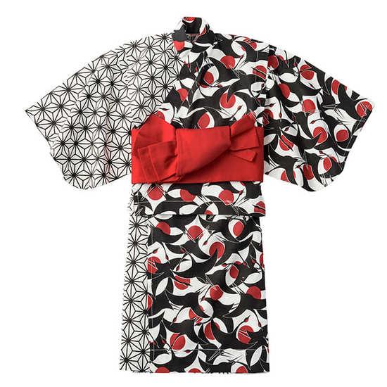 yukata 2 tsuru aka for kids サムネイル