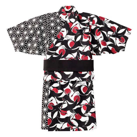 yukata 4 tsuru sumi for baby サムネイル
