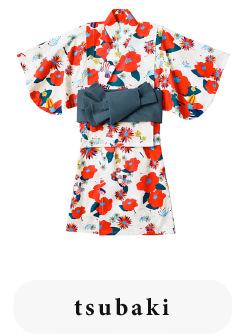 ベビー浴衣 yukata 1 tsubaki for baby