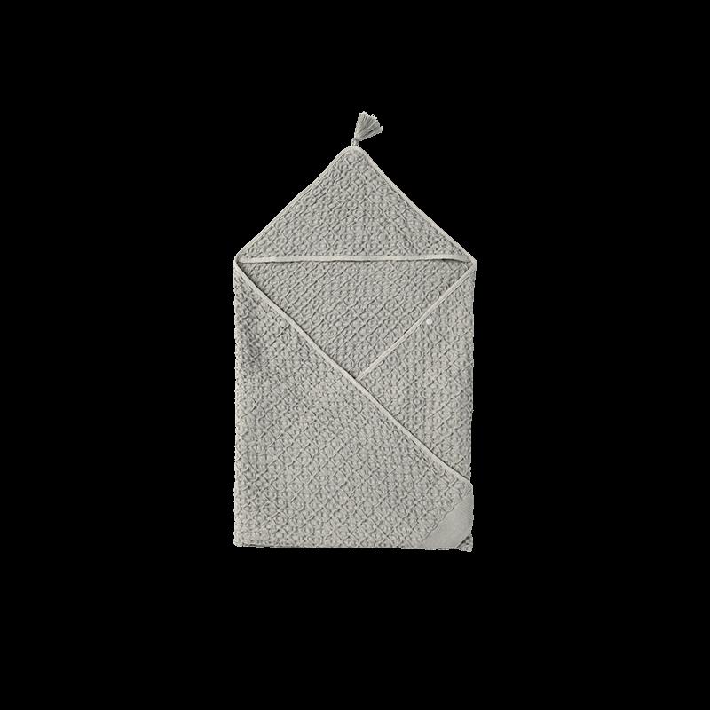 マールマール オーガニックフード付きタオル(名入れ刺しゅう可) hooded towel 4 sage
