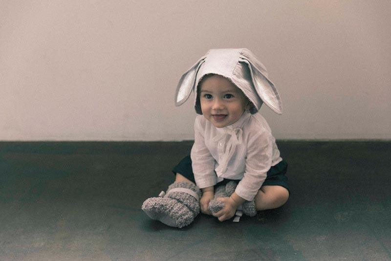 bonnet 2 bunny grey