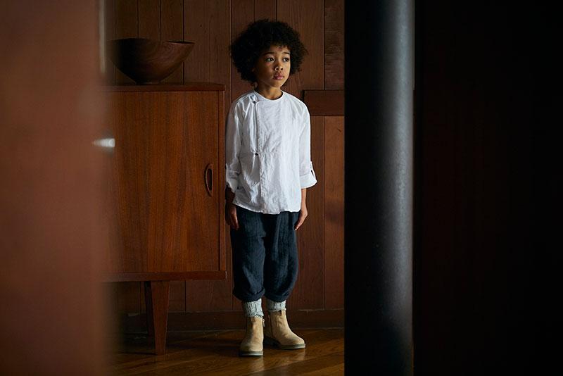 shirts 1 bosom white / baby size ¥8,250 ・ kids size ¥8,800   出産祝い・ギフトならMARLMARLのスタイ